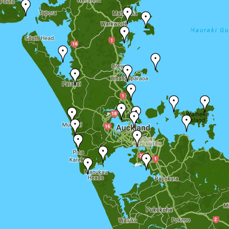 Auckland Tide Times Map